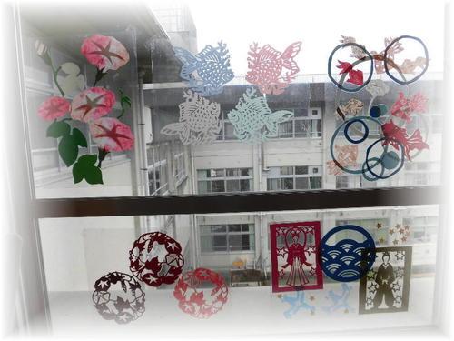 2021年7月の窓飾りat図書館
