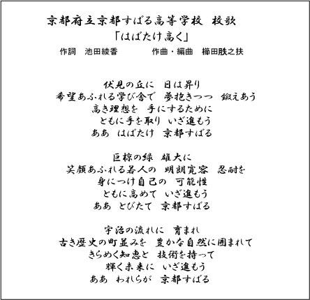 京都すばる高等学校 校歌