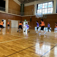 男子バスケットボール部:中学校との練習試合