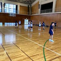 女子バスケットボール部:中学生との練習試合